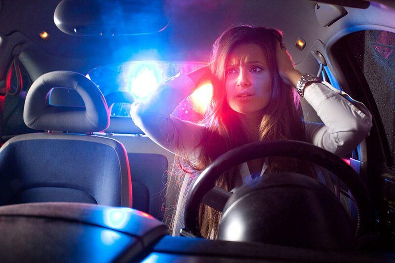 lady getting pulled over by the cops, are you a high risk driver?